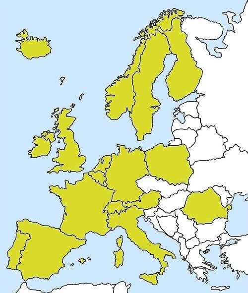 Marktpräsenz Bauernhof-Eis in Europa