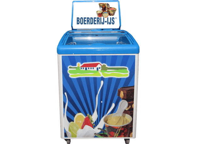 Kleine Bauernhof-Eis Kühltruhe