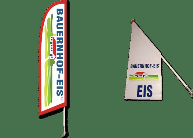 Bauernhof-Eis Flaggen